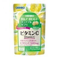 ORIHIRO 물고 맛있는 씹는 보조 식품 비타민C 60g
